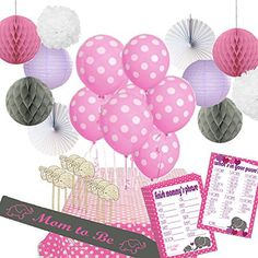 """Product review for Stork Station - """"Elephant Love"""" Baby Shower Decoration Kit (44 pieces, Pink and Gray, Elephant-theme, for girls) - 2 Baby Shower Games - Mom-to-be Sash - Paper Decorations -  Reviews of Stork Station – """"Elephant Love"""" Baby Shower Decoration Kit (44 pieces, Pink and Gray, Elephant-theme, for girls) – 2 Baby Shower Games – Mom-to-be Sash – Paper Decorations. Stork Station – """"Elephant Love"""" Baby Shower Dec"""
