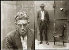 Operating a dog fighting ring--Beautiful mug shots from Australia's Justice & Police Museum found on designer John Gall's blog.