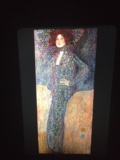 "Gustav Klimt ""Portrait Of Emile"" Austrian Art Nouveau 35mm Art Slide  | eBay"