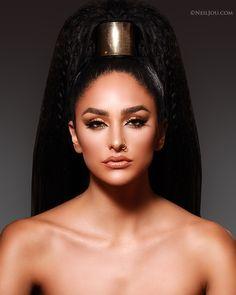 A beauty studio shoot for Bellizza Hair Unlimited by @_itspam_ | Model @ash_kholm | Makeup @ash_kholm #beautyphotography #beautyphotographer