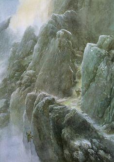 Tolkien Photo: Alan Lee`s illustration Alan Lee, Tolkien Books, J. R. R. Tolkien, Gandalf, Legolas, Lotr, Alchemy Art, O Hobbit, Into The West