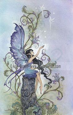 amy brown fairies   amy brown creation magic fairy watercolor original art…