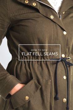 flat fells seams in jackets / Closet Case Files
