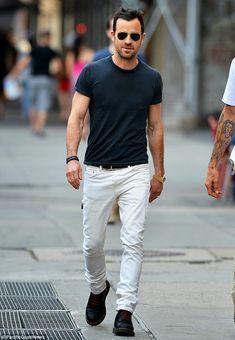 メンズ「白パンツ(白デニム)」着こなしコーデ。