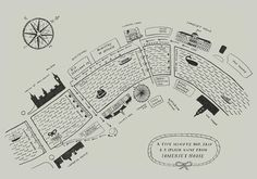 map of London and Thames Wedding Invitation idea invite for Anya Hindmarch by Liam Stevens