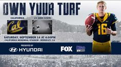Cal Football: 2013 Intro Video - Own Your Turf vs Ohio St. #GoBears #CalFootball #BeatOhioState