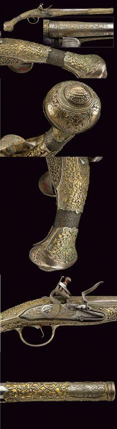 A fine flintlock pistol,dating: second quarter of the 19th Century provenance: Turkey.