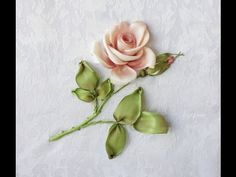 Wonderful Ribbon Embroidery Flowers by Hand Ideas. Enchanting Ribbon Embroidery Flowers by Hand Ideas. Ribbon Embroidery Tutorial, Rose Embroidery, Learn Embroidery, Silk Ribbon Embroidery, Hand Embroidery Patterns, Embroidery Kits, Embroidery Stitches, Embroidery Techniques, Ribbon Art