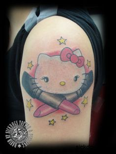 Hello Kitty Tattoos | hello kitty makeup david sickdogs tattoo