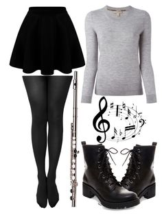 A fashion look from December 2015 featuring shirt sweater, knee length flared skirts and pantyhose stockings. Piece Of Clothing, Geeks, Orchestra, Concerts, Jasmine, Skater Skirt, Burberry, My Style, Skirts