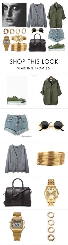 """""""Green"""" by mila4321 ❤ liked on Polyvore featuring Levi's, rag & bone, Armitage Avenue, Givenchy, Michael Kors, American Apparel and Forever 21"""