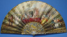 Fan given to Princess May of Teck upon the occasion of her marriage to the future King George V by the Duke and Duchess of Cumberland. Antique Fans, Vintage Fans, Hand Held Fan, Hand Fans, Painted Fan, Historical Fiction Books, Old Fan, Queen Mary, Objet D'art