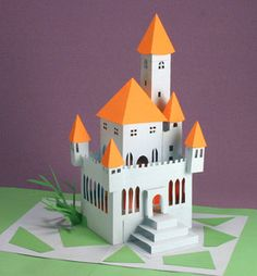Pop-Up castle ~ Duncan Birmingham paper mechanics