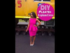 DIY: Pleated Peplum Dress - YouTube