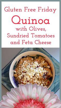 Quinoa with olives, sundried tomatoes & feta