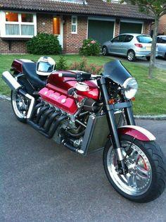 Allen Millyard's Dodge Viper V10 powered custom motorcycle…