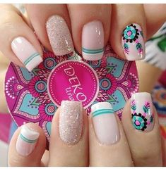 Manicura de uñas Tattoos And Body Art female tattoo designs Love Nails, Pretty Nails, My Nails, Pretty Nail Designs, Nail Art Designs, Tattoo Designs, French Nails, Nagellack Trends, Manicure E Pedicure