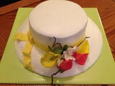 A Hat cake for a special lady by www.dkscakes.com