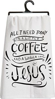 Primitives by Kathy Jesus Tea Towel, 28-Inch by 28-Inch