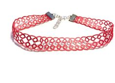 Simple Lace Choker - Bright Pink, Tatted, Necklace by SheynasKnittedKnacks on Etsy https://www.etsy.com/uk/listing/526429443/simple-lace-choker-bright-pink-tatted