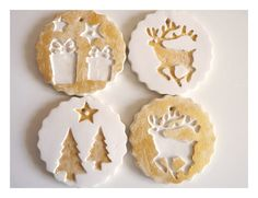 christmas embossed ornaments