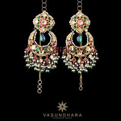 Lovely kundan earrings