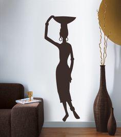 African Wall Art, African Art Paintings, African Interior, African Home Decor, Art Mural Africain, Mural Art, Wall Murals, African Living Rooms, Africa Decor