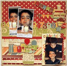 HOORAY IT�S YOUR BIRTHDAY - Memory Works - Simple Stories - Happy Day Collection