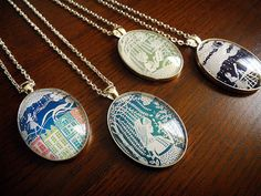 Papercut Print Pendants by all things paper, via Flickr