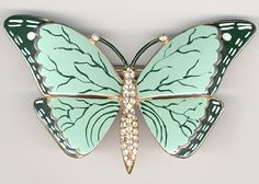 Fenichel Giant Enamelled Butterfly Pin