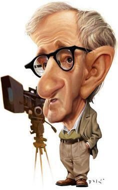 caricature woody allen - Cerca con Google
