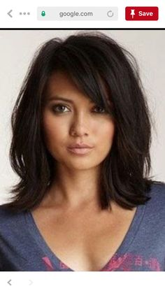 Laurette Murphy Shoulder Length Black Straight Hair Wig - June 01 2019 at Hairstyles With Bangs, Straight Hairstyles, Easy Hairstyles, Black Hairstyles, Hairstyle Ideas, Hairstyles 2016, Celebrity Hairstyles, Layered Haircuts For Medium Hair With Bangs, Pretty Hairstyles