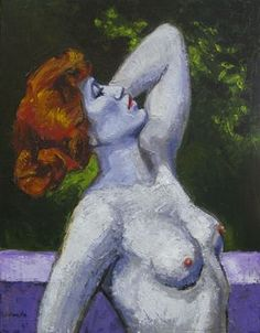 """Marie Fox, Acrylic Painting on Canvas, 30"""" x 24"""" """"Morning Nude"""" See more art with search """"Marie Fox"""""""