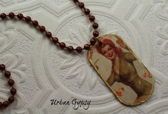 World War 2 Pinup Babe Urban Gypsy Roxy The Armys Favorite Pineup Girl Pendant Necklace by UrbanGypsyIndy on Etsy
