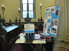 Charlotte Mary Yonge Fellowship stall at St Matthew's Otterbourne, 175th anniversary Open Day