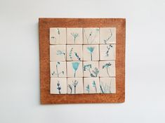 Tablou cu motive vegetale #9 | Corina Marina Ceramics