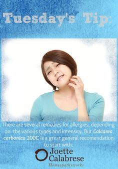Find out more on how to use Calc carb and its dosage in this blog on allergies. ~joettecalabrese.com