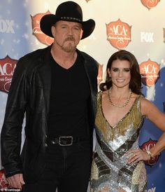 64d2c0b461a7d Danica rubbed shoulders with her co-host singer Trace Adkins who looked  dressed for the part in an all-b lack outfit and matching  outdoor western  hat like ...