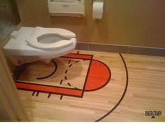 A basketball court on the bathroom floor of the boy's bathroom! Description from pinterest.com. I searched for this on bing.com/images
