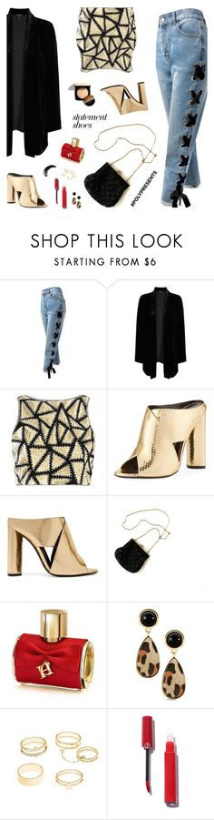 """""""#PolyPresents: Statement Shoes"""" by nastenkakot ❤ liked on Polyvore featuring Sans Souci, Eileen Fisher, Boohoo, Tom Ford, Chanel, Carolina Herrera, Charlotte Russe, contestentry and polyPresents"""