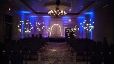 Wedding ceremony up lighting by Complete of Colorado Springs