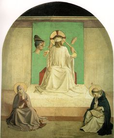 Fra Angelico Mocking of Christ with the Virgin and Saint Dominic 1439-1443 Fresco 187 x 151 cm Cell 7, Convent of San Marco, Florence