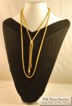"Among the eight vintage items we've added to our website and eBay​ store today is this impressive 26"" 14k gold fancy rope-link ladies slide chain necklace with a small hand-finished cameo slide.  This and our other seven newly-listed items (including pocket and wrist watches, an antique coin, a pocket watch chain and a lapel/stick pin) may all be viewed at our Auctions page: http://stores.ebay.com/PM-Time-Service/_i.html?rt=nc&LH_Auction=1"