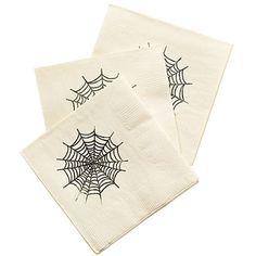DIY cobweb napkins