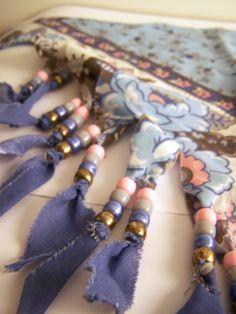 1980s Bandana Necklace  Western Tassels  by yazberryfashion, $22.00