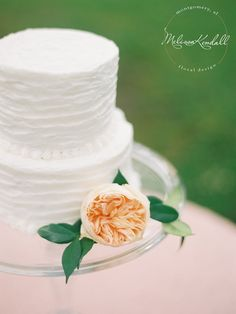 Wedding Cake Cake and Flowers Birthday Cake Peony  www.melissakendall.com