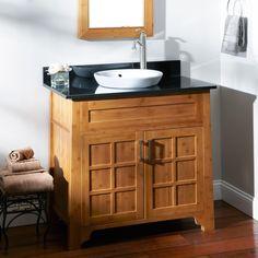 """36"""" Bangkok Bamboo Vanity for Semi-Recessed Sink"""