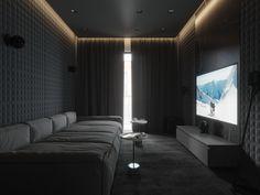 Furnished living room apartment for movie lovers - Decoração de casa - # . Home Theater Room Design, Home Cinema Room, Home Theater Rooms, Home Theater Seating, Home Interior Design, Cinema Room Small, Theater Seats, Movie Theater, Room Interior