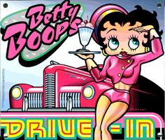"betty boop and pudgy artwork | this drive-in sign for ""Betty Boop's Drive-In"""