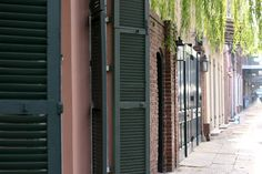 brick archways, shutters, lowswept branches and wrought iron- A Photographic Foray through the French Quarter